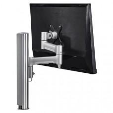 Atdec AWM Single monitor arm solution - 460mm articulating arm - 400mm post - bolt - white