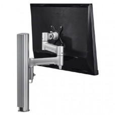 Atdec AWM Single monitor arm solution - 460mm articulating arm - 400mm post - Grommet Clamp - silver