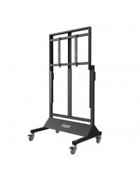 Gilkon FP7 v3 Mobile Trolley- Flat Screen Lift Mobile (Manual Lift) - Up to 86 inch Screen Size; VESA 800 x 400, Max 120kgs