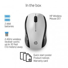 HP 201 Pk Silver Wireless Mouse