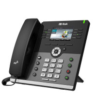 HTEK UC924E Gigabit Color IP Phone with Bluetooth and WiFi Up to 12 Sip Accounts + PSU + Wall Mount