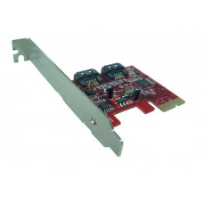 Shintaro PCIE V2.0  SATA3 6Gbps x 2 Port (LP & FH brackets included)