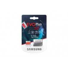Samsung Micro SDXC 128GB EVO Plus /w Adapter UHS-1 SDR104, Class 10, Grade 1 (U3), Up to 100MB/s read, 60MB/s Write, 10 Years Limited Warranty