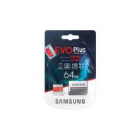 Samsung Micro SDXC 64GB EVO Plus /w Adapter UHS-1 SDR104, Class 10, Grade 1 (U1), Up to 100MB/s read, 20MB/s Write, 10 Years Limited Warranty