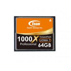 Team Group Memory Card Compact Flash CF 64GB, 1000X, 80MB/s Write*, Lifetime Warranty