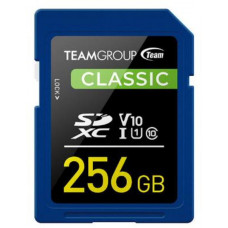 Team Classic SD Memory Card - 256GB - UHS (Ultra) Speed Class 1(U1), Supports Video Speed Class 10(V10).