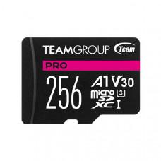 Team PRO V30 256GB U3 MicroSD CARD, USH-I Class 3, Limited Lifetime Warranty
