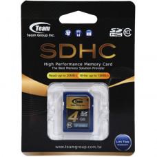 Team Group Memory Card SDHC 4GB, Class 10, 16MB/s Write*, Lifetime Warranty