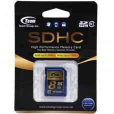 Team Group Memory Card SDHC 8GB, Class 10, 16MB/s Write*, Lifetime Warranty