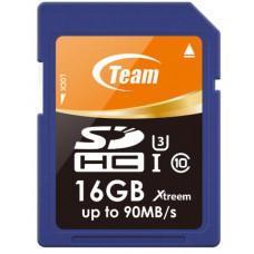 Team Xtreem SDHC 16GB UHS-1 U3 (Read 90MB/s, Write 45MB/s)