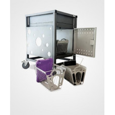 Gilkon Tablet Basket Kit / 2 Baskets / Mounting Brackets / Fixings / *** Compatible with 30 Bay PC Vault Trolley (2LCMT-30)***