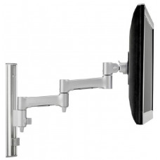 Atdec AWMS-46W35 Single monitor arm channel wall mount Black