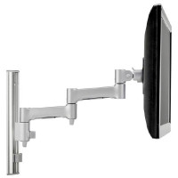 Atdec AWMS-46W35 Single monitor arm channel wall mount Silver