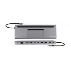 Kramer KDOCK-IT-4 Triple display USB-C docking station - USB-C to HDMI/DP/VGA, RJ45/ 2 x USB 3.0/USB 2.0/SD/microSD/PD/3.5AUX/ PD3.0 100W passthrough