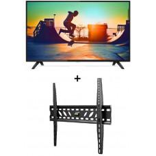 Philips 6133, 139 cm (55 inch) 4K Ultra Slim Smart LED TV with BONUS ATDEC WALL MOUNT