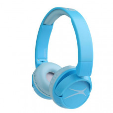 Altec Lansing Kids Friendly 2-in1 Volume limited Bluetooth Headphones BLUE - (Bluetooth, Volume Limited under 85 dB, 3.5mm AUX, 4 Hrs Battery)