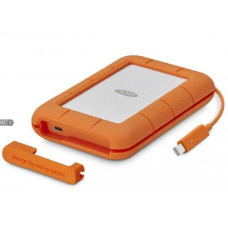 LaCie Rugged Secure 2 TB External hard drive (portable) USB C with adapter for USB3.0 . 2 Yr .256-bit AES - with 2 years Rescue Data Recovery