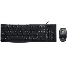Logitech Wired Keyboard & Mouse Combo, Desktop MK200, Black, USB