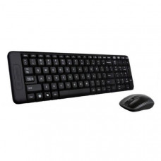 Logitech Wireless Keyboard & Mouse Combo, MK220, Black, USB Receiver, ) - International Edition with English Packaging 1 Year MMT Warranty