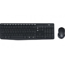 Logitech Wireless Keyboard & Mouse Combo, Quiet MK315, Black, USB Receiver (Combo powered by 2xAAA and 1xAA, included)