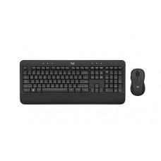 Logitech Wireless Keyboard & Mouse Combo, MK545, Black, USB Receiver, (combo powered by 4x AA, included)