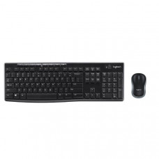 Logitech Wireless Keyboard & Mouse Combo, MK270r, Black, USB Receiver (Combo powered by 2xAAA and 1xAA, included)