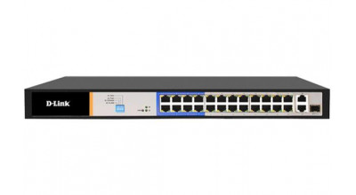 D-Link 26-Port PoE Switch with 24 Long Reach 250m PoE Ports and 2 Gigabit Uplink Ports