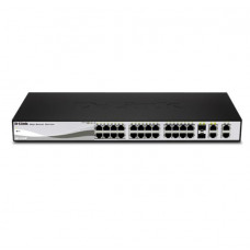 D-LINK DES-1210-28P 28-Port 10/100Mbps Web Smart PoE Switch with 4 Gigabit Ports (2 UTP and 2 Combo