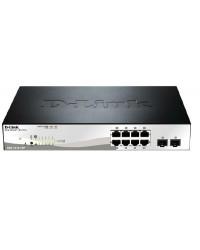 D-LINK DGS-1210-10P 10-Port Gigabit WebSmart PoE Switch with 8 PoE UTP and 2 SFP Ports