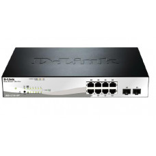 D-LINK DGS-1210-10P 10-Port Gigabit WebSmart PoE Switch with 8 PoE UTP and 2 SFP Ports