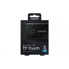 Samsung T7 Touch Portable SSD 1TB,USB3.2, Type-C, R/W(Max) 1,050MB/s, Aluminium Case, Fingerprint Password Security, Black, 3 Years Warranty