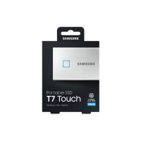 Samsung T7 Touch Portable SSD 500GB,USB3.2, Type-C, R/W(Max) 1,050MB/s, Aluminium Case, Fingerprint Password Security, Silver, 3 Years Warranty